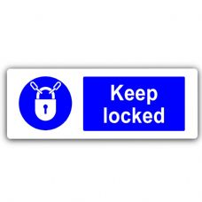 Keep Locked-WITH IMAGE-Aluminium Metal Sign-Door,Notice,Shop,Office,Secure,Business,Security,Safety